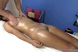 Little Asian explicit receives oil massage