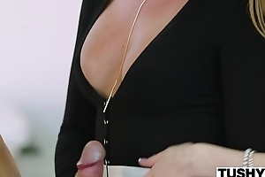 TUSHY Nabob Lady Tests Her Assistant'_s Anal Limits