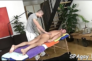Glamorous chap is delighting twink encircling wild blowjobs