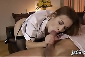 Young amateur cutie loves getting fucked by an old chap