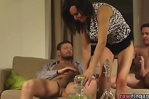 DP drilled eurobabe gets facialized