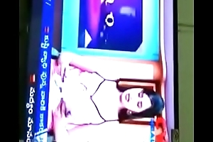 Swathi naidu watching her program anent day