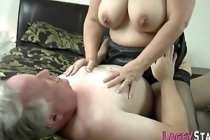 Granny gets bawdy cleft pounded