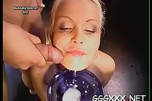 Getting non interrupt facial cums non-native studs  excites chick