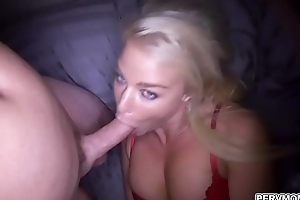 Busty blonde cougar London River likes to flirts and fucks close to her stepson.She loves taking his dick inner her pussy and gets a sweetmeat cum facial.