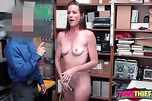 Sofie strips down for horny officer to bang her once fundamental principle guilty be fitting of stealing