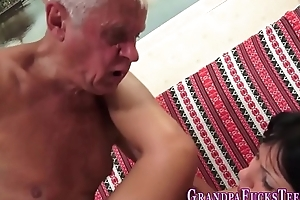 Teenager blows pensioner