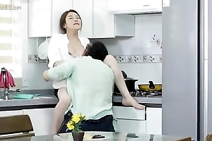 Fuck juvenile Korean mother in kitchen