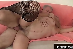 Mature Blonde Cristine Ruby Takes a Hardcore Sting