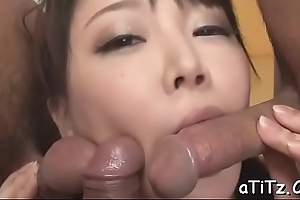 Big pointer sisters japanese stimulates will not hear of slit with powerful toys