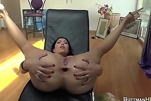 Sexy ladies obtaining their but fucked give dildo