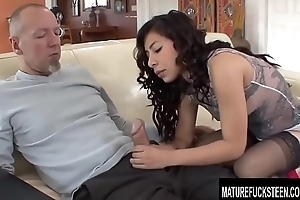 Perfect Latin babe Teen Nicole Ferrera Gets Naughty with an Ancient Guy