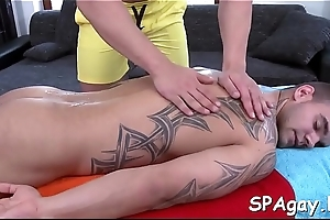 Charming lad is delighting twink with wild blowjobs