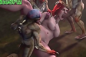 Triss Merigold fucked hard by monsters