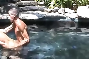 Old grandfathers thing embrace fro the pool! Private gay porn foreigner the tourist base!