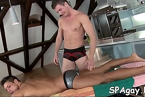 Hawt twink gets his fast pecker sucked wits horny homosexual