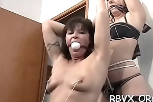 Slutty petite girl gets enslaved by a large cocky guy