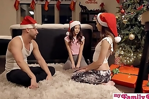 Stepbro'_s Christmas Threesome And Suckle Creampie - My Family Pies S5:E6