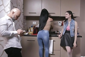 Bonny Italian girl gets sodomized by older alms-man