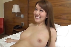 Fare Asian lady sucks coupled with rides lover's hard load of shit